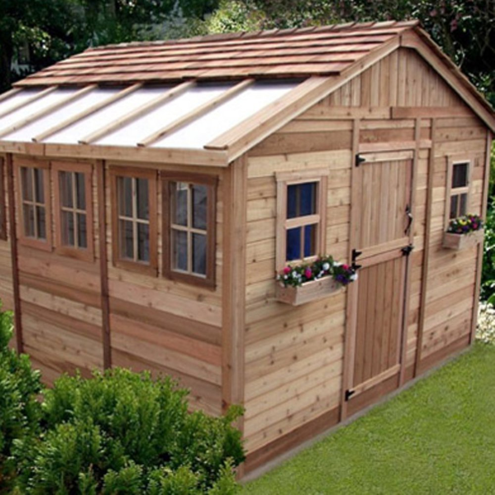 Amazon.com : Outdoor Living Today SSGS1212 Sunshed 12 X 12 Ft. Garden Shed  : Storage Sheds : Garden U0026 Outdoor