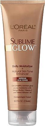 L'Oreal Paris Skincare Sublime Glow Daily Moisturizer and Natural Skin Tone