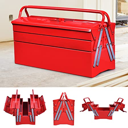 Costway Metal Tool Box Garage Steel Chest Portable Cantilever ... on stool for garage, hoist for garage, tool box organization ideas, refrigerator for garage, door for garage, workbench for garage, tool box with tools, air conditioning for garage, heater for garage, paint for garage, racks for garage, shelving for garage, drill press for garage, fan for garage, air compressor for garage, speakers for garage,