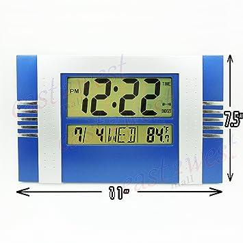 De sobremesa Digital con pantalla LCD de + termómetro reloj de pared, tiempo, diseño