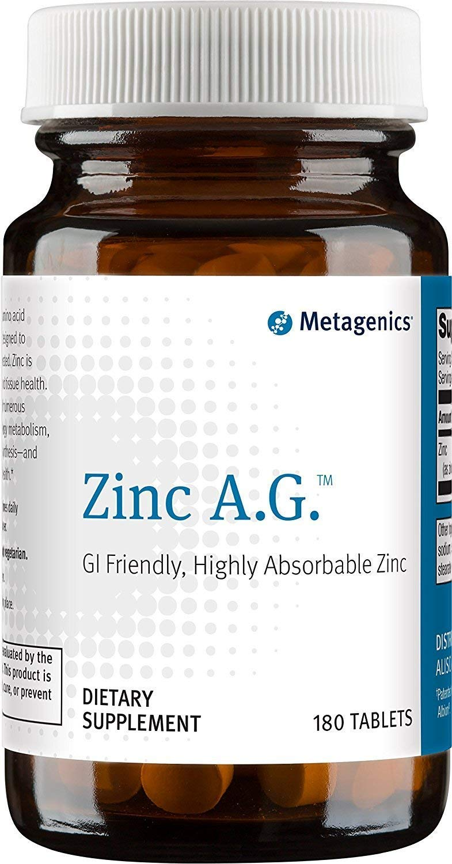 Metagenics Zinc A.G. - 180 Vegetarian Tablets