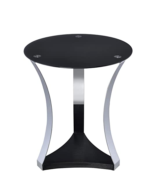 Amazon.com: Acme Geiger End Table, One Size, Black Glass and Rose Gold: Kitchen & Dining