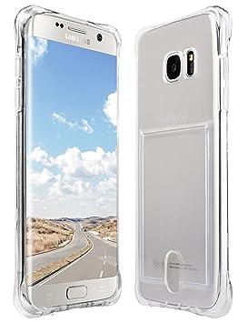 Taken Galaxy S7 Edge Funda - Ultra Delgado Cubierta de TPU Silicona Carcasa Transparente con Ranura para Tarjeta Para Samsung Galaxy S7 Edge
