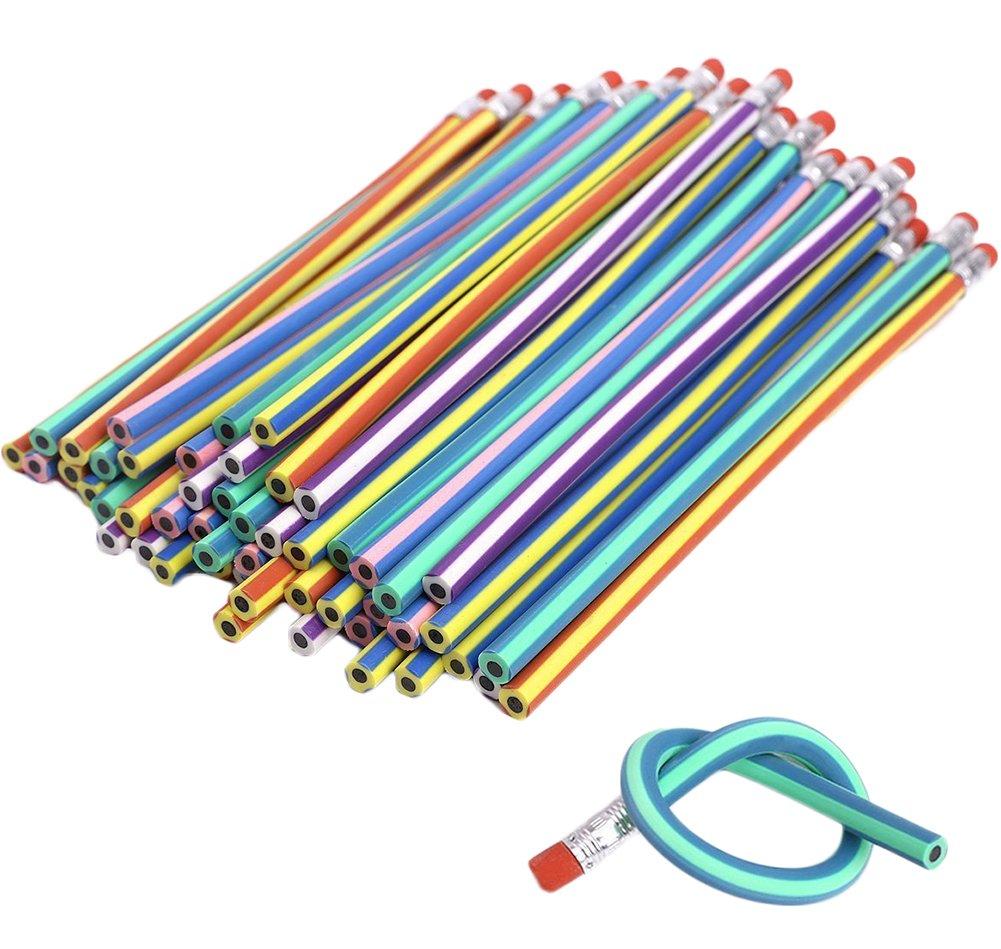 Hosaire 30PCS 18cm Soft Bendy Flexible Pencils Set Magic Free Fun ...