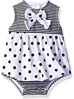 BON BEBE Baby Girls' 1 Piece Sundress with Built in Diaper Cover