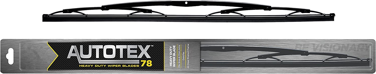 "AUTOTEX Metal and Rubber Wiper Blade,Heavy Duty,Saddle,30/"" Size 78-30"