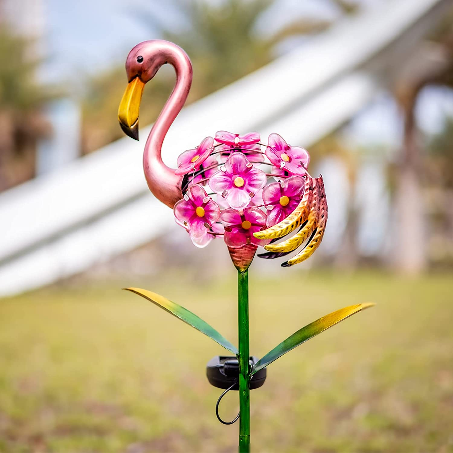 Afirst Solar Flamingo Lights - Outdoor Solar Garden Stakes Metal Decor Lights, Waterproof LED Decorative Lights for Pathway, Yard