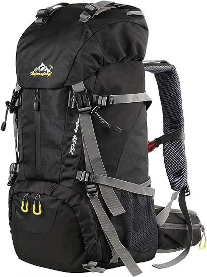 Mens Black Travel Backpack Waterproof Outdoor Camping//Hiking Backpack Large Bag