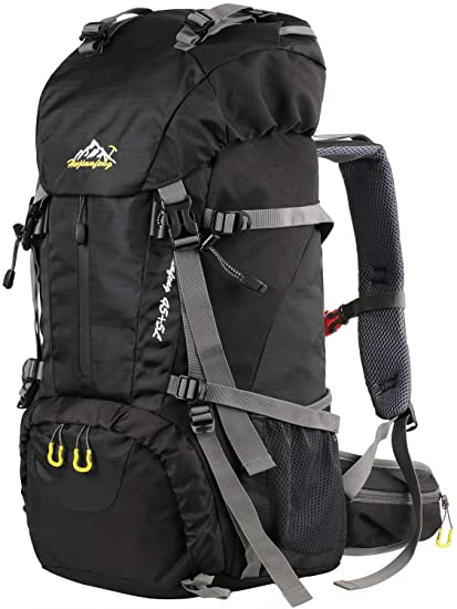 G4Free 45L Large Hiking Backpack Waterproof Durable Travel Trekking Daypack for Outdoor Camping Mountaineering with Rain Cover
