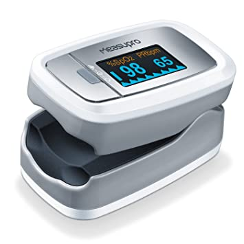 MeasuPro OX100 Instant Read Pulse Oximeter, Rotating Oled Display, Oxygen  and Pulse Rate Monitor,