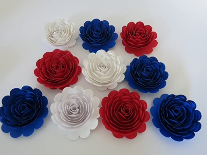 Amazon.com: American Theme Party Decorations, 10 Large Red White and ...