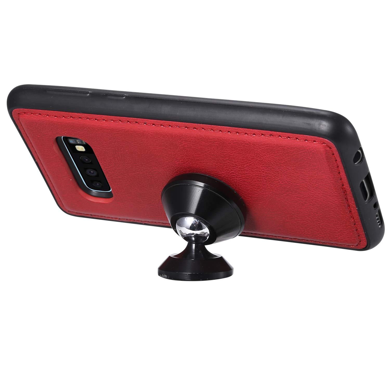 /Étui Housse Portefeuille Magnetique Antichoc avec Fonction de Support et Coque Souple pour Samsung Galaxy S10e NEKTU20972 Rouge NEXCURIO Coque Galaxy S10e Cuir PU /à Rabat