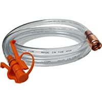 GasTapper Siphon Pro 8' Jiggler Hose Unique Patented Hose Clamp Allows One Hand Operation With no Concern That the Hose End Will Flop Out- No Mess