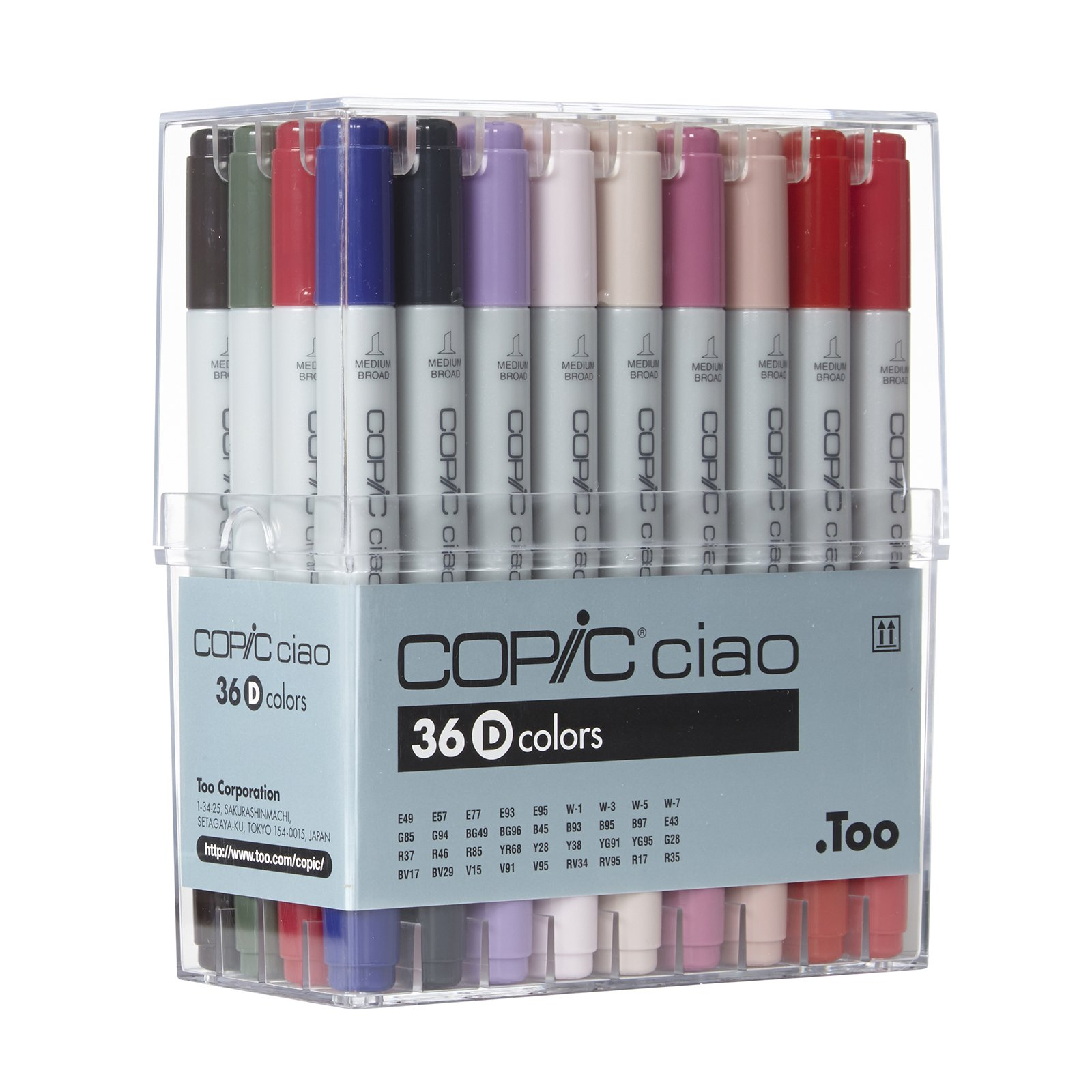Copic I36D Ciao Markers Set D, 36-Piece