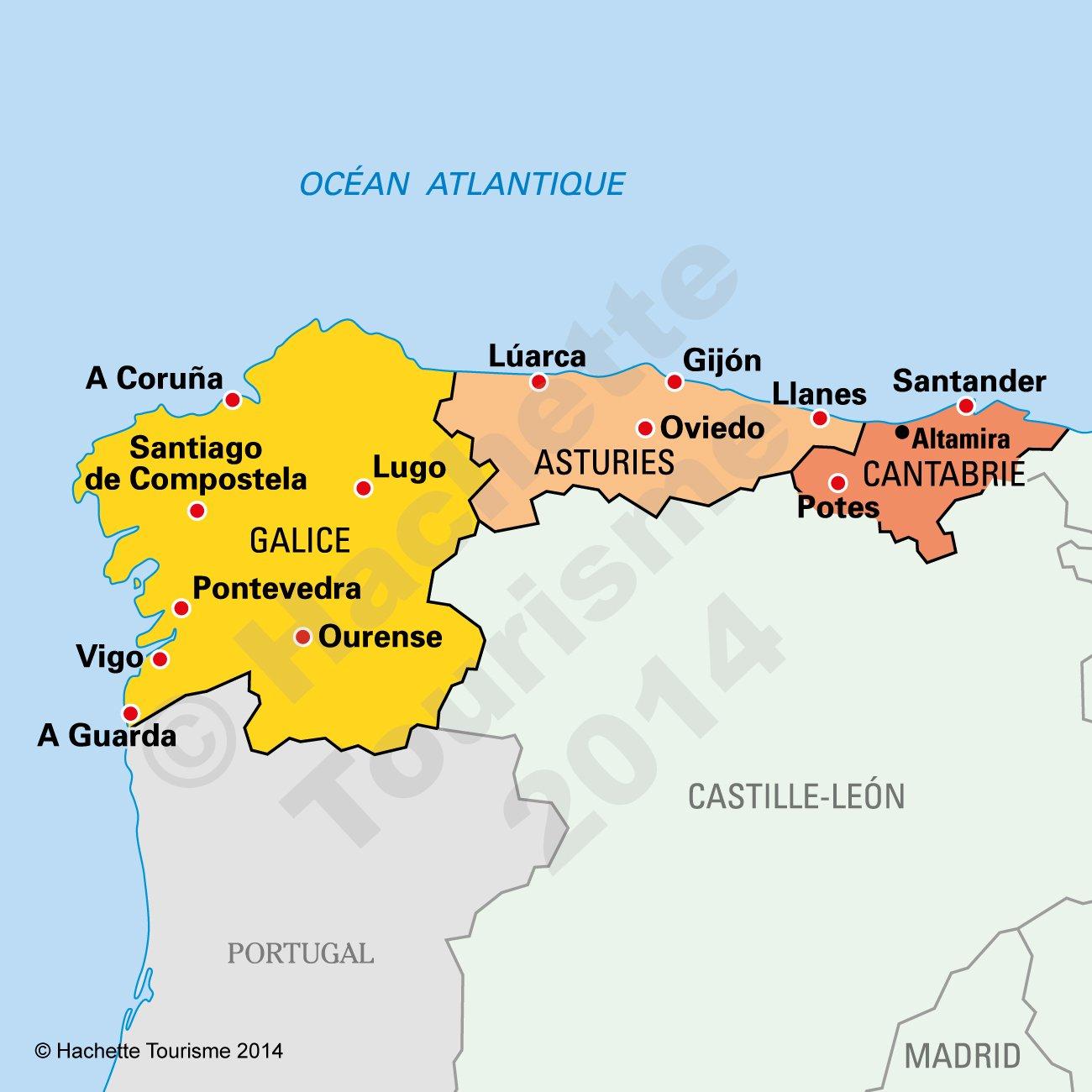 carte espagne les asturies