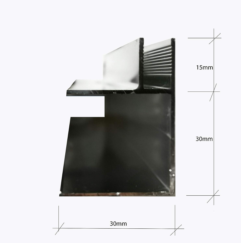 TYP 1001.Eck Eck Aluminium Profil f/ür Duschw/ände Duschkabinen Glaszentrum Hagen Heimwerken