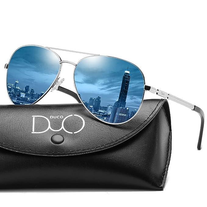 Duco Cool Piloto vidrios gafas de sol clásico unisex gafas piloto espejo UV400 filtro categoría 3
