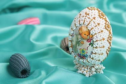 Amazon Com Handmade Easter Egg Decorative Eggs Homemade Home Decor