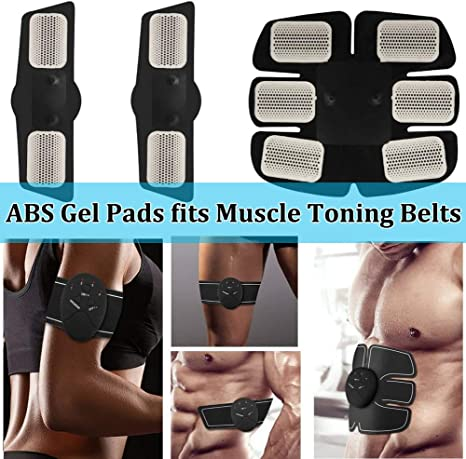 6-30 PCS Muscle Toner GEL PADS EMS Machine Toning Belt Replacement Sheets Abs