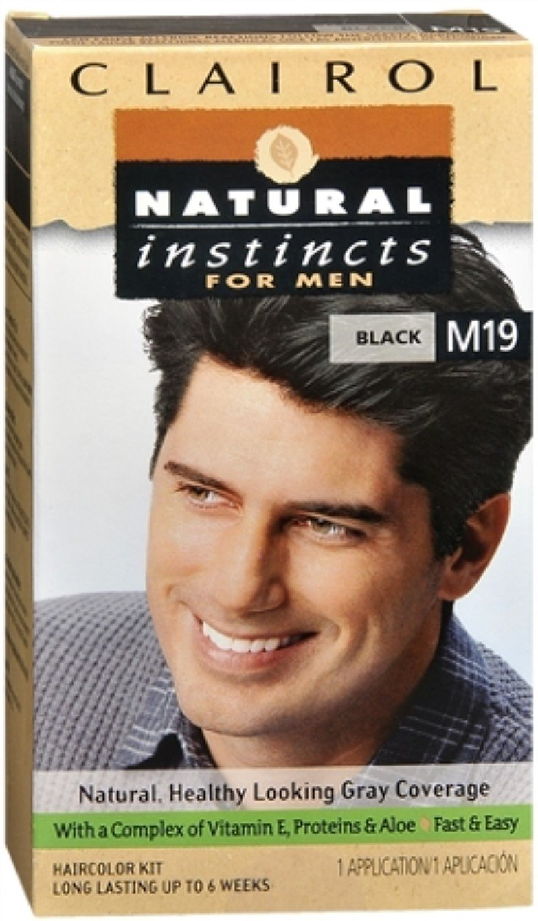 Natural Instincts For Men Haircolor M19 Black 1 Each (Pack of 12)