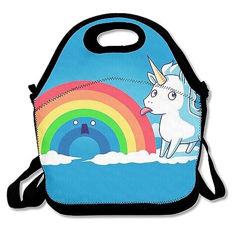 Almuerzo Tote unicornio sabor Rainbow cajas de almuerzo Bolsas de almuerzo bolso de mano para de