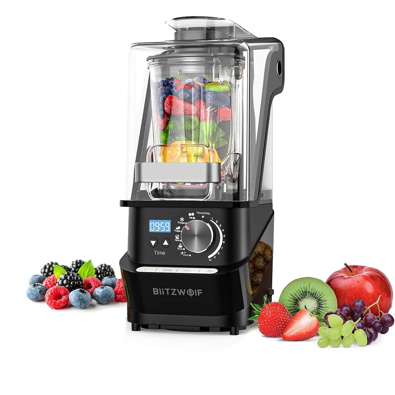 Countertop Blender, BlitzWolf Vacuum Blender 1500W 50/60Hz 10 Speeds Smoothie Blender with Quiet Shield, 10 Auto-Blending Models for Kitchen