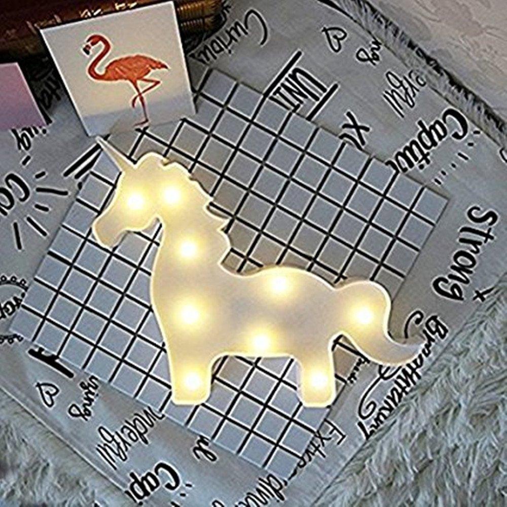 3D Unicornio Lluminaci/ón y L/ámparas Luces Creativas L/ámparas de Mesa y Mesilla de Noche Mariposa 1