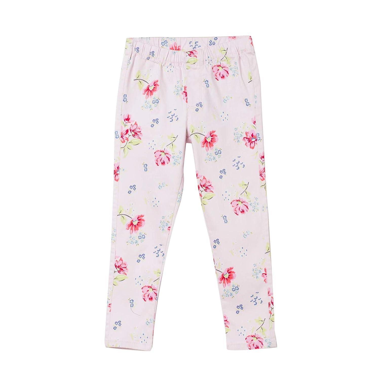 bossini Delight Girls Elasticised Flower Print Leggings US Size 4t 12,Pink