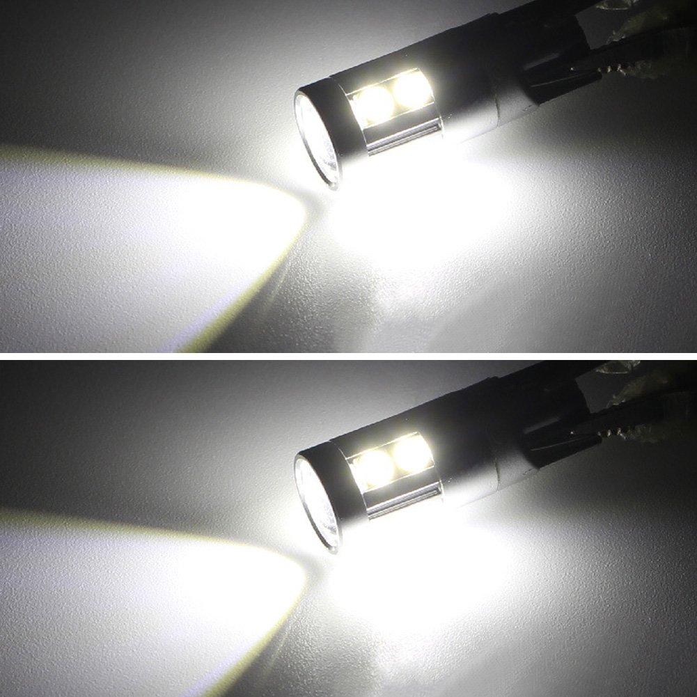 Safego 2x T10 501 W5W LED 9SMD 3030 Lampadina Interni Per Auto Tronco Luci Marker Laterale Lente DC 12V 6000K