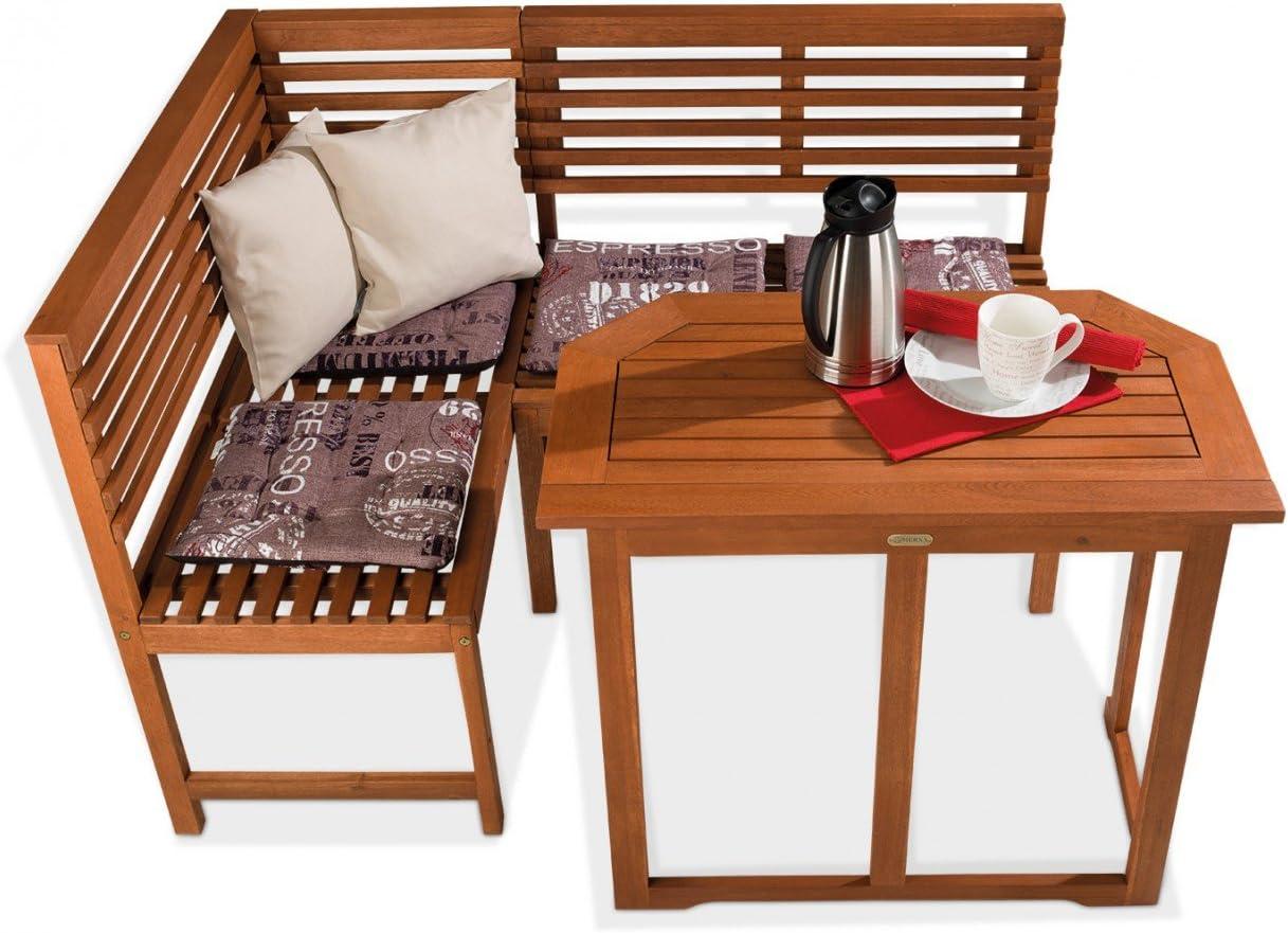 Muebles de jardín de madera mesa rinconera de eucalipto Brühl: Amazon.es: Juguetes y juegos