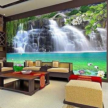 Yshasag Silk Mural Custom 3d Photo Wallpaper Waterfall Landscape
