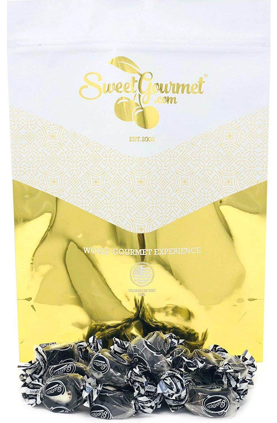 Licorice Caramel Creams | Retro Candy Bulk | Chewy Licorice Caramel & White Cream Center | 5 Pounds