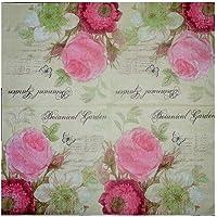 The Craftshop Beautiful Decoupage Napkin - Botanical Garden (20 pieces) Size : 33 x 33 cm 3-ply - 1/4 folded