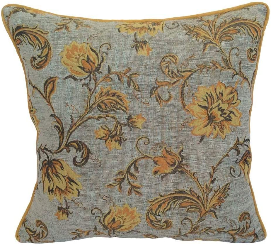 """16/"""" 18/"""" 20/"""" 22/"""" New Cushion Cover Beige Gold  Floral Print Handmade"""