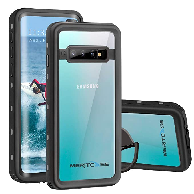 official photos 81573 29e6b Meritcase Compatible with Samsung Galaxy S10 Plus Waterproof Case, IP68  Waterproof S10 Plus Case with Fingerprint ID, Built in Screen Protector ...
