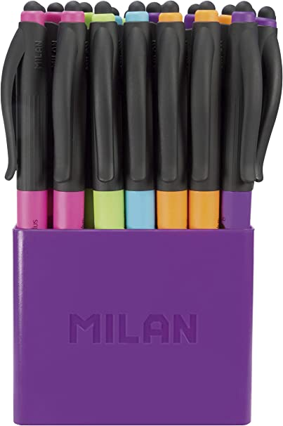 Milan Touch Colours Stylus - Pack de 24 boligrafos: Amazon.es ...