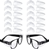 12 Pairs Safety Eye Glasses Side Shields, Slip on Clear Glasses Side Protector Flexible Side Shield for Small or Medium…