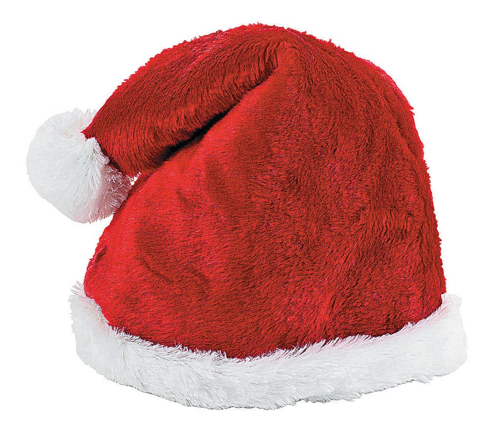 Oriental Trading Company OTC Men's Plush Santa Hat Medium Red