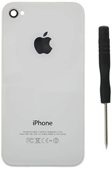 online store 9e8d1 05362 Generic New Replacement Rear Glass Back Cover Battery Door for iPhone 4S