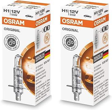 2x Bombillas halógenas H1 P14.5s OSRAM 64150 ORIGINAL: Amazon.es: Coche y moto