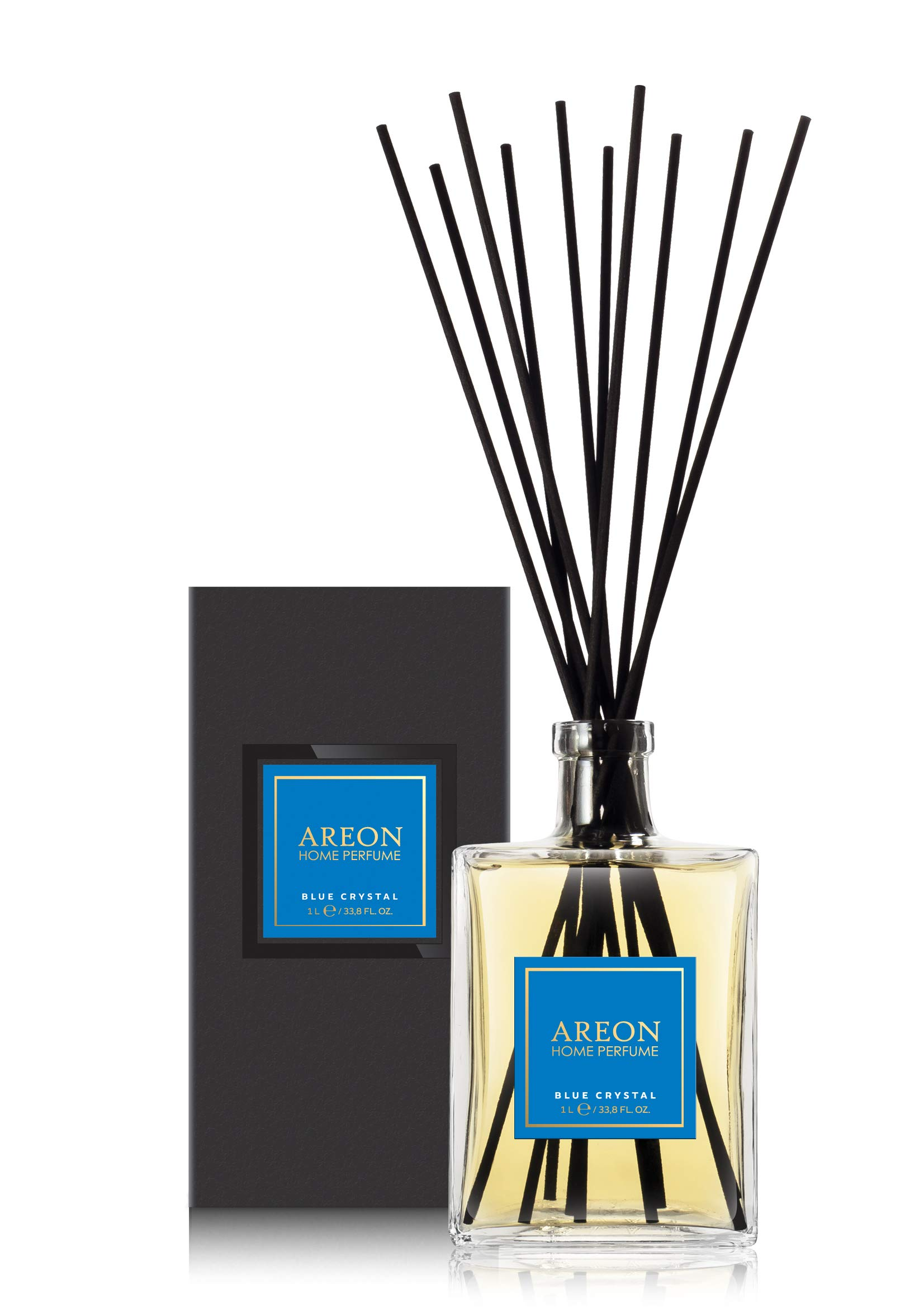 Areon Home Perfume Sticks - 1 Liter (34 OZ) Blue Crystal by Areon (Image #1)