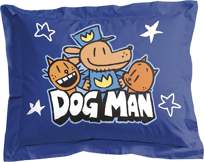 Kids Super Soft Bedding Jay Franco Dog Man Supa Buddies 1 Single Sham Official Dog Man Product