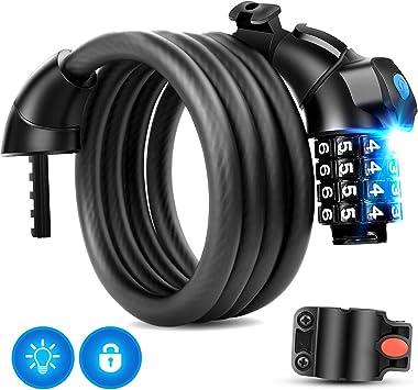Candado de Bicicleta, MTB Seguridad Candado de Cable Mejor ...