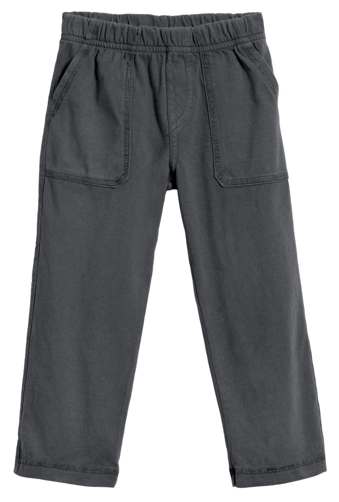 City Threads Big Boys' and Girls' Soft Jersey Tonal Stitch Pant Perfect for Sensitive Skin SPD Sensory Friendly Clothing - Charcoal 7