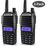 BaoFeng 2pcs UV-82 2-Pack Dual-Band 136-174/400-520 MHz FM Ham Two-Way Radio, Transceiver
