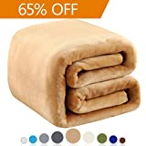 "Amazon Price History for:Polar Fleece Blankets Queen Size for The Bed Extra Soft Brush Fabric Super Warm Sofa Blanket 90"" x 90""(Camel Queen)"