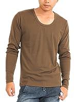 (スペイド) SPADE Tシャツ メンズ 長袖 Vネック Uネック ロングTシャツ 無地 プレーン【w188】