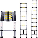 Telescopic Ladder Multi-Purpose Aluminium Telescoping Ladder Extension Extend Portable Ladder Foldable Ladder EN131 and CE Standards (2.9M / 9.5Ft) by Myifan