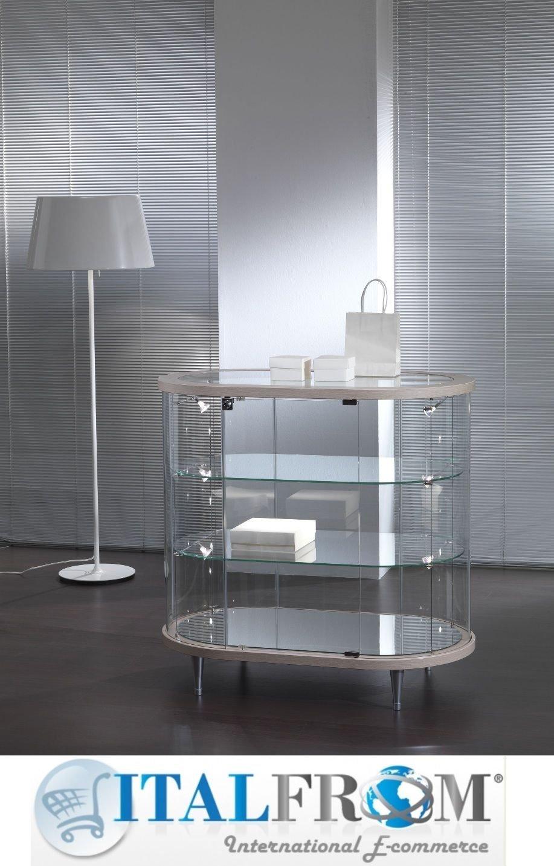 Vitrine Vitrine Showcase Werkbank Glas Geschäft oder Haus mit Beleuchtung