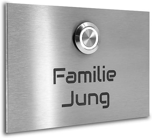 Klingelplatte,Klingeltaster Aluminium mit ihrer Wunschgravur
